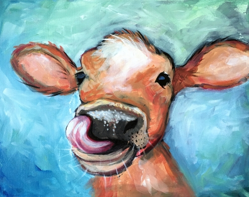 A Shes Got Moooves paint nite project by Yaymaker