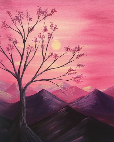 A Mountaintop Serenity paint nite project by Yaymaker