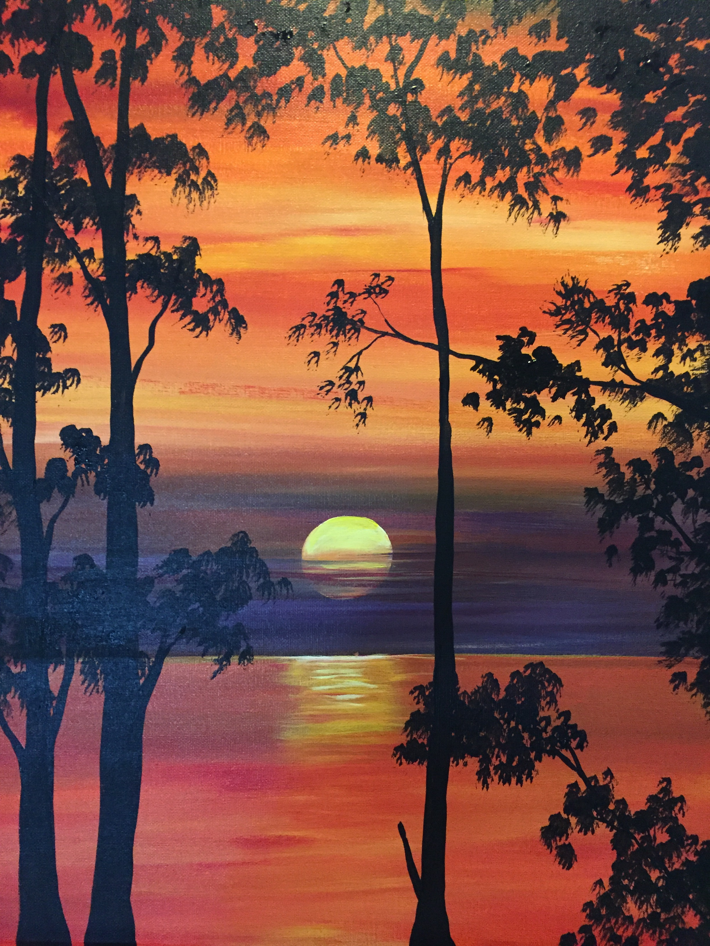 A Autumn Glow paint nite project by Yaymaker