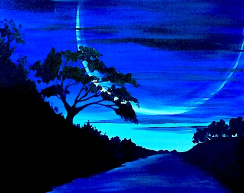 A Powerful Moon paint nite project by Yaymaker