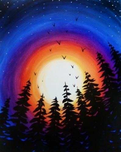A Sky Ablaze paint nite project by Yaymaker