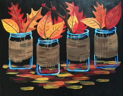 A Collecting Fall paint nite project by Yaymaker