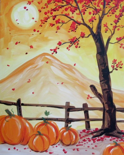 A Falling For Autumn paint nite project by Yaymaker