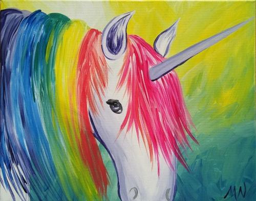 A Rainbow Unicorn paint nite project by Yaymaker