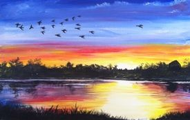 A End of summer paint nite project by Yaymaker