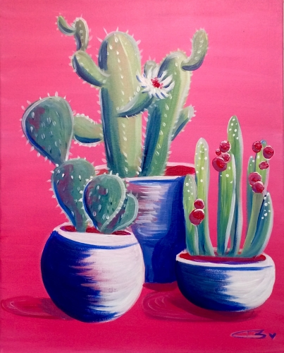 A Cactus Collection paint nite project by Yaymaker