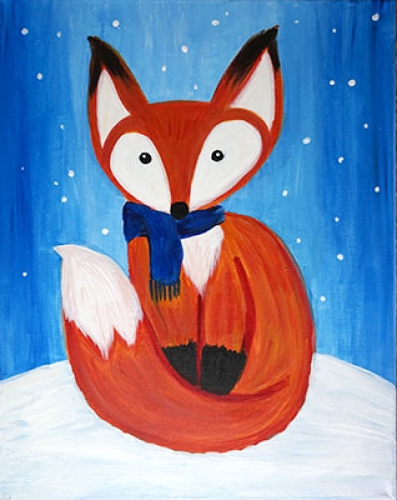 A Cozy Little Fox paint nite project by Yaymaker