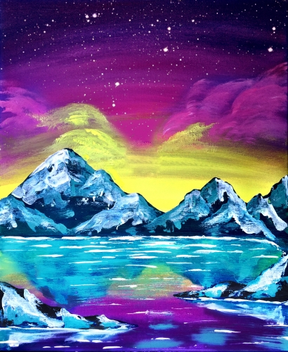 A Snowy Mountain II paint nite project by Yaymaker