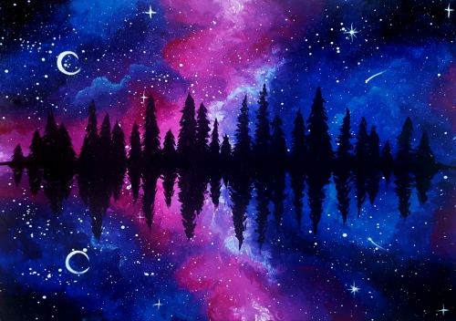 A Galaxy at Pine Lake paint nite project by Yaymaker