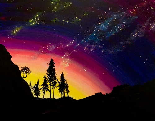 A Love You to the Moon paint nite project by Yaymaker