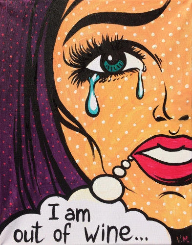 A I Am Out Of Wine paint nite project by Yaymaker