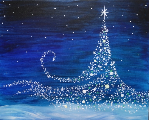 A Magical Christmas paint nite project by Yaymaker