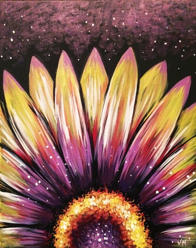 A Wild Night Flower paint nite project by Yaymaker