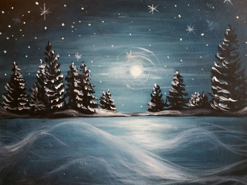 A Winter Solstice II paint nite project by Yaymaker
