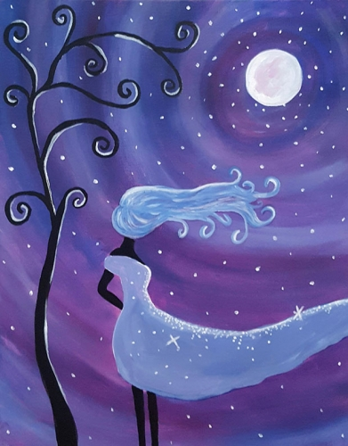 A Moon Goddess paint nite project by Yaymaker