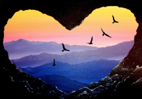 A Soaring Love paint nite project by Yaymaker