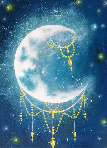 A Jeweled Moon paint nite project by Yaymaker