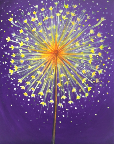 A Dandelion Daydream paint nite project by Yaymaker