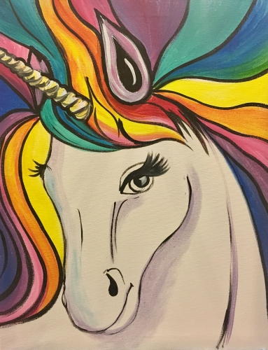 A Rainbow The Unicorn paint nite project by Yaymaker