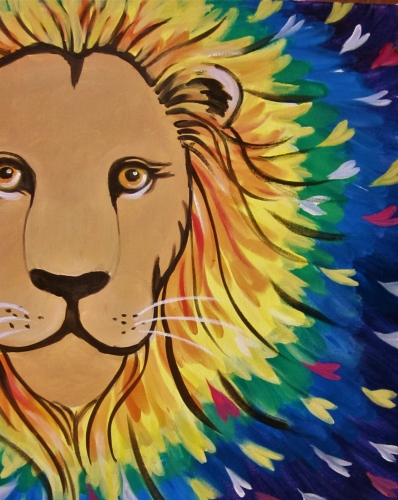 A Lion Hearted paint nite project by Yaymaker