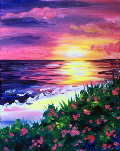 A Blooming Sunset paint nite project by Yaymaker