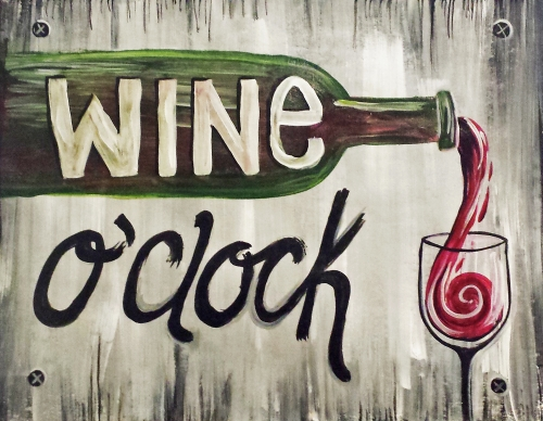 A Wine OClock paint nite project by Yaymaker