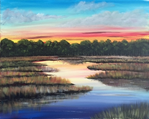 A May Marsh paint nite project by Yaymaker