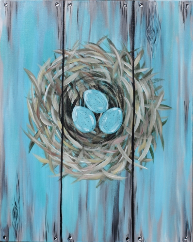A Spring Nest paint nite project by Yaymaker