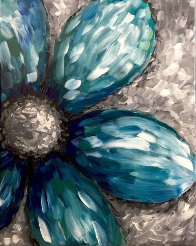 A One Cool Flower paint nite project by Yaymaker
