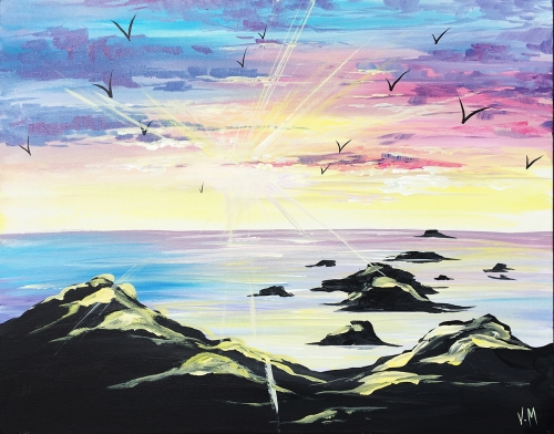 A Hopeful Place paint nite project by Yaymaker