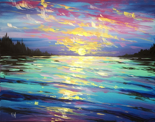 A Peaceful Place paint nite project by Yaymaker