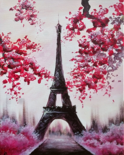 A Serene Paris II paint nite project by Yaymaker