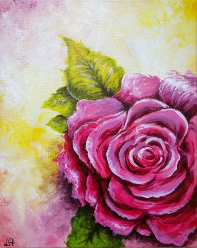 A Abstract Rose paint nite project by Yaymaker