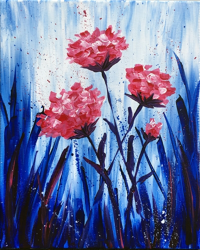 A Midnight Blooming paint nite project by Yaymaker