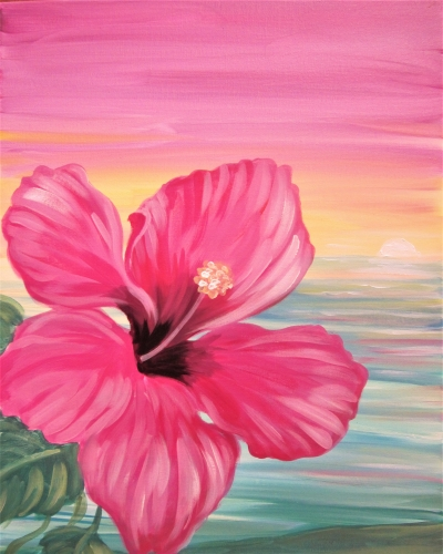 A Hello Hibiscus paint nite project by Yaymaker