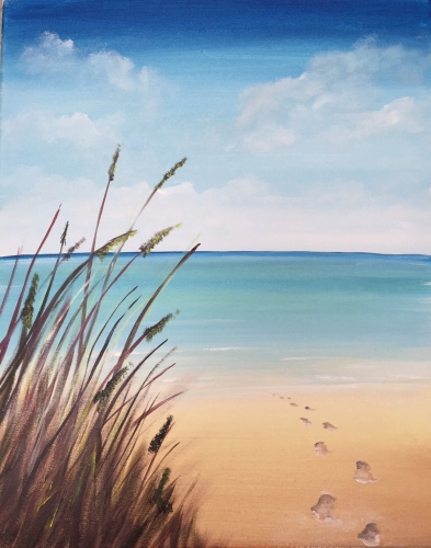 A Steps to the Beach paint nite project by Yaymaker