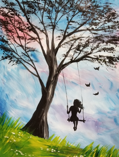 A Never Grow Old paint nite project by Yaymaker