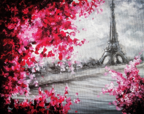 A Blossoms In Paris IV paint nite project by Yaymaker