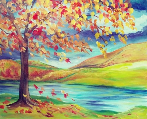 A Autumn Valley paint nite project by Yaymaker