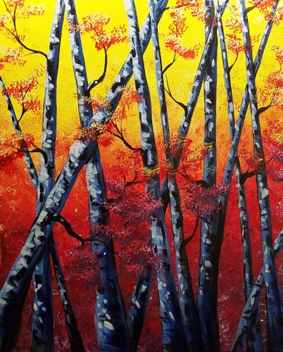 A Birch Please paint nite project by Yaymaker
