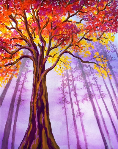 A Majestic Forest paint nite project by Yaymaker