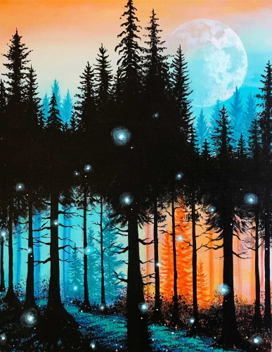 A Forest Magic paint nite project by Yaymaker