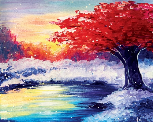 A Red Tree Winter Sunset experience project by Yaymaker