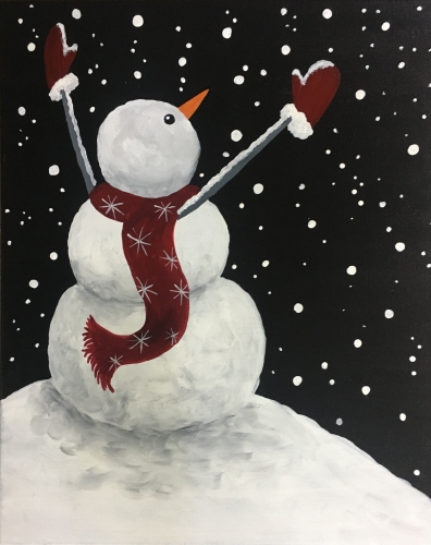 A Let it Snow Man paint nite project by Yaymaker
