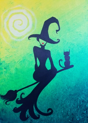 A One Sexy Witch paint nite project by Yaymaker