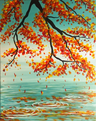 A Autumn Reflection II paint nite project by Yaymaker