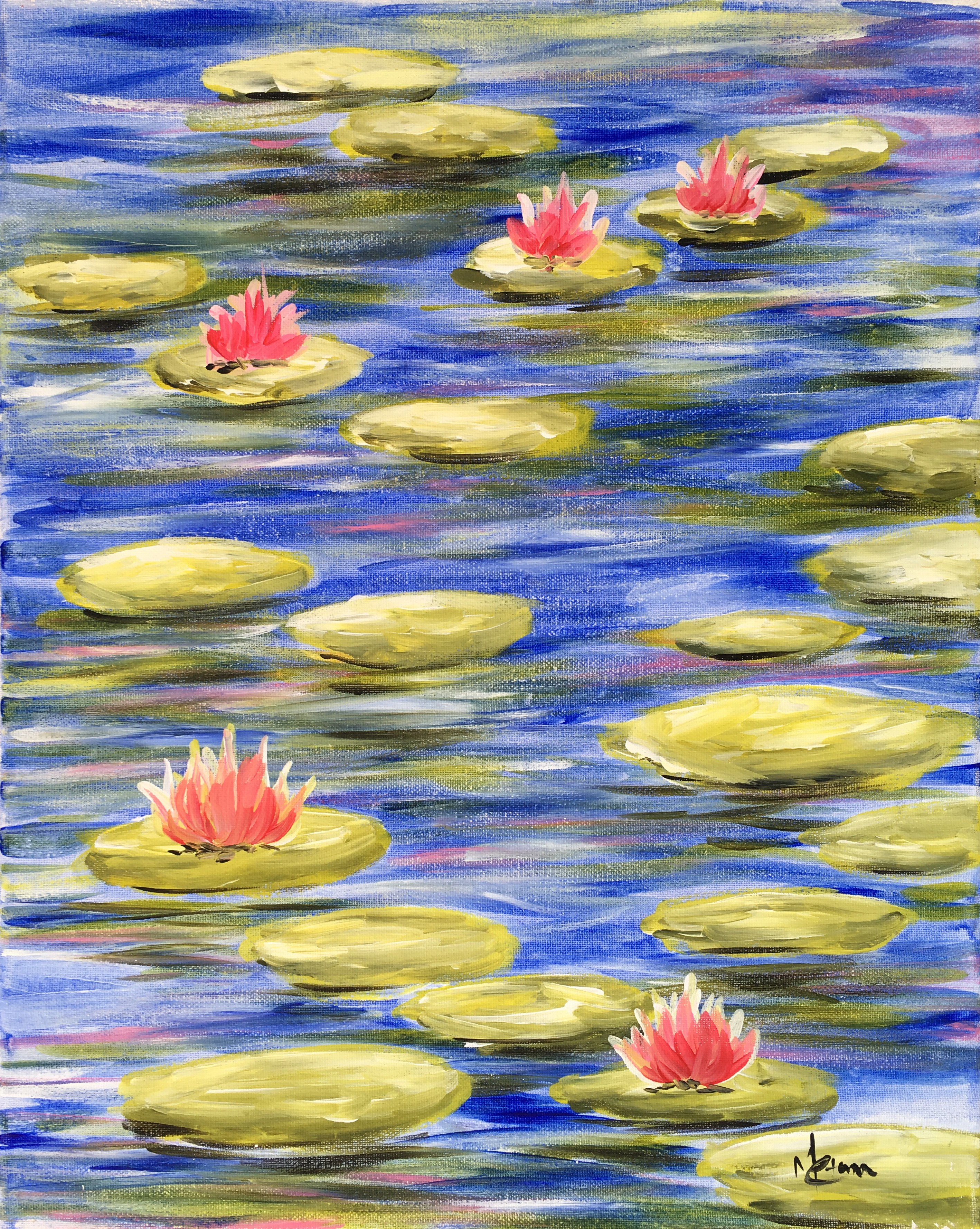 A Monets Lilies paint nite project by Yaymaker