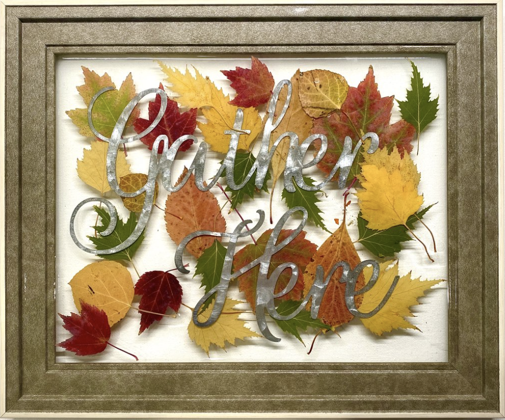 A Deluxe Art Resin Gather Here Picture Frame with Fall Leaves experience project by Yaymaker