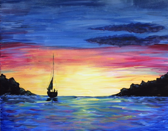 A Sail Away 1 paint nite project by Yaymaker