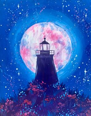A Starry Moonlit Lighthouse  experience project by Yaymaker